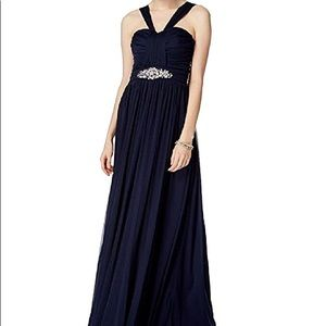 Long formal trendy cocktail gown
